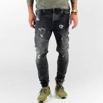 VSCT Clubwear Straight Fit Jeans Noah Biker čern