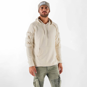 VSCT Clubwear Sweat capuche Raw Edge Design beige