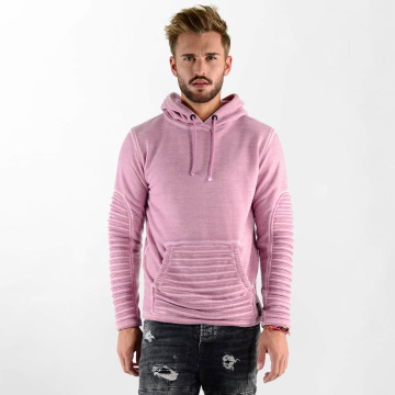 VSCT Clubwear Sweat capuche Biker Oilwash rose