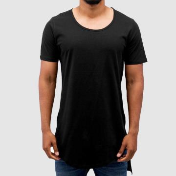 VSCT Clubwear T-shirt long oversize Roundneck Basic Long noir