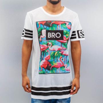 VSCT Clubwear T-Shirt Flamingo Bro Oversize weiß