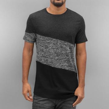 VSCT Clubwear Tričká Sate Mix Fabric šedá