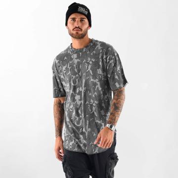 VSCT Clubwear Tričká Camo Washed šedá