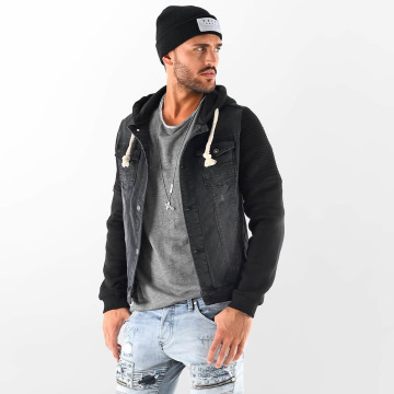 VSCT Clubwear Übergangsjacke Customized Biker schwarz