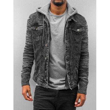 VSCT Clubwear Välikausitakit Hybrid Denim musta