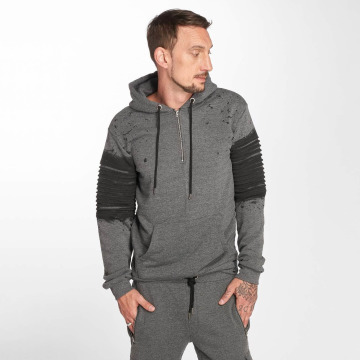 VSCT Clubwear Vetoketjuhupparit Oiled harmaa