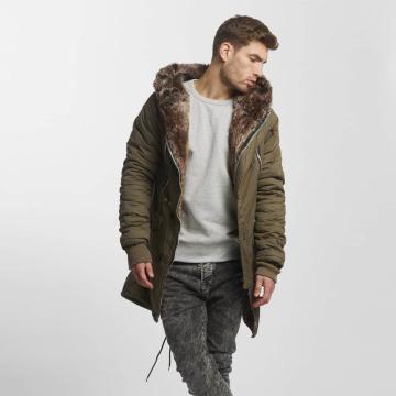 VSCT Clubwear winterjas Double-Zipper khaki