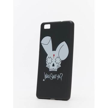 Who Shot Ya? Handyhülle Bunny Logo Huawei schwarz