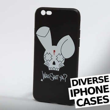 Who Shot Ya? Puhelimen suojakuori Bunny Logo iPhone musta