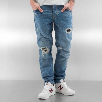 Who Shot Ya? Straight Fit Jeans Used blue