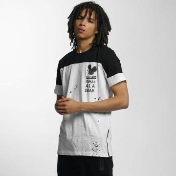 Who Shot Ya? T-shirt Contrast bianco