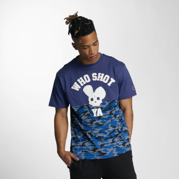 Who Shot Ya? T-Shirty Bluecamou niebieski