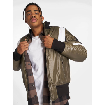Who Shot Ya? Übergangsjacke Colorblock olive