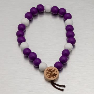 Wood Fellas Bracelet Deluxe Pearl pourpre