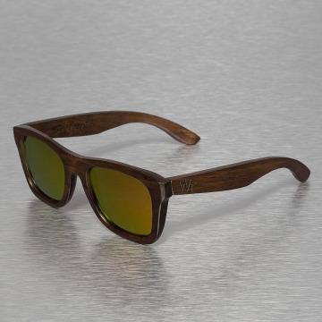 Wood Fellas Eyewear Lunettes de soleil Jalo Mirror brun