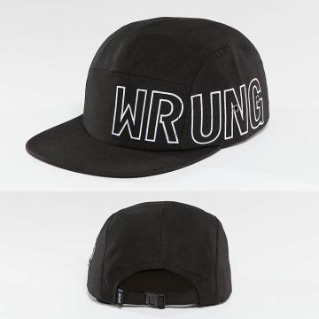 Wrung Division 5 Panel Caps Side svart
