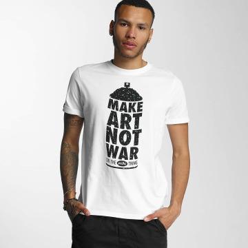 Wrung Division Camiseta Manwpainted blanco