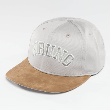 Wrung Division Snapback Cap Block grau