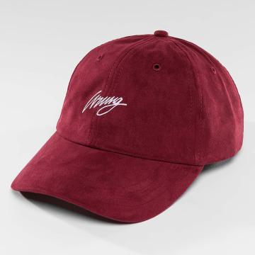 Wrung Division Snapback Caps Daim czerwony