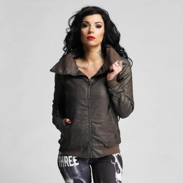 Yakuza Кожаная куртка One Love Faux Leather коричневый