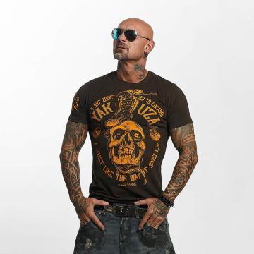 Yakuza Camiseta Addicted marrón