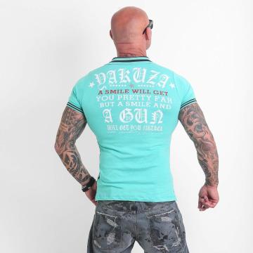 Yakuza Camiseta polo Pretty Far turquesa