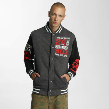 Yakuza College Jacket Know Your Dealer gray