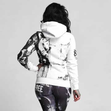 Yakuza Hoodies con zip Unicorn bianco