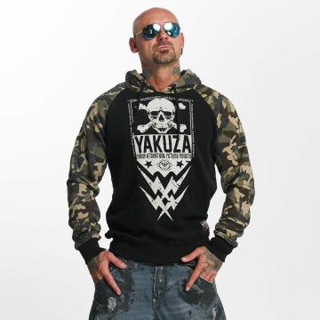 Yakuza Hoody Skull Two Face zwart