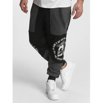 Yakuza Jogging kalhoty Punx Two Face Antifit čern