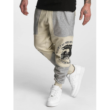 Yakuza Joggingbyxor Punx Two Face Antifit beige