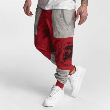 Yakuza Joggingbyxor Punx Two Face Antifit röd
