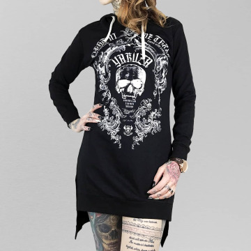 Yakuza Kleid Skull Hooded schwarz