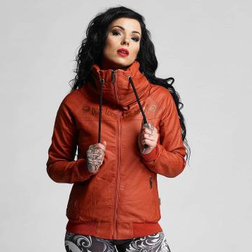 Yakuza Leather Jacket One Love Faux Leather red
