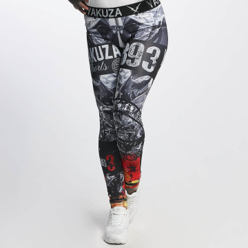 Yakuza Legging Flaming Flowers schwarz