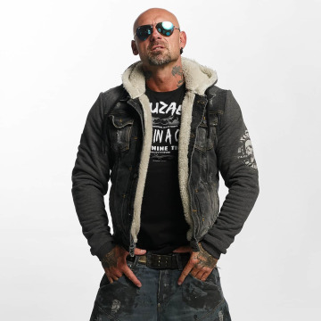 Yakuza Lightweight Jacket Stalked By Devils Denim Teddy black