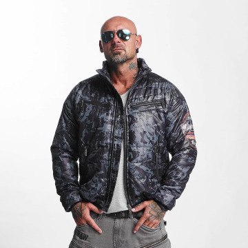 Yakuza Lightweight Jacket Trashed Quilted gray