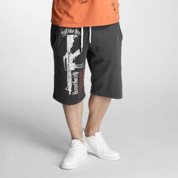 Yakuza Pantalón cortos Armed Society gris