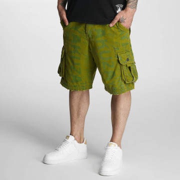Yakuza Pantalón cortos Allover Cargo verde