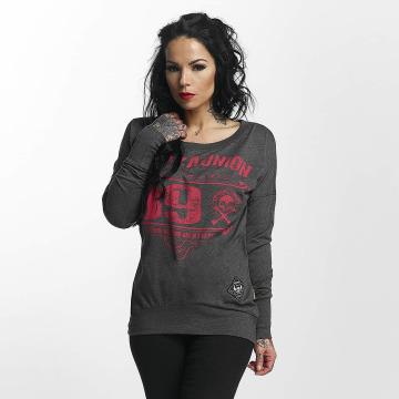 Yakuza Pitkähihaiset paidat 893 Union harmaa