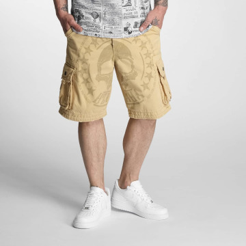 Yakuza Shorts Skull Label beige