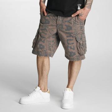 Yakuza Shorts Allover grå