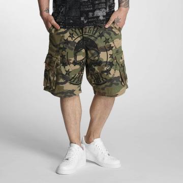 Yakuza Shorts Skull Label kamouflage