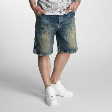 Yakuza Shortsit Caught In A Circle Denim ruskea