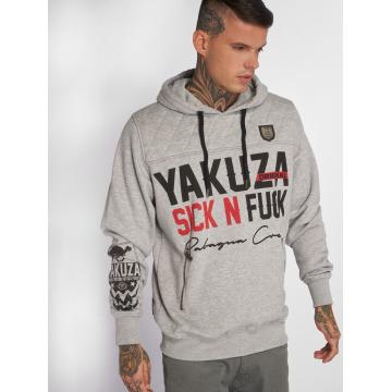 Yakuza Sudadera Sick N Fuck Quilted gris