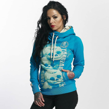 Yakuza Sweat capuche Skull Cross bleu