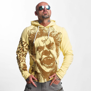 Yakuza Sweat capuche Allover King jaune