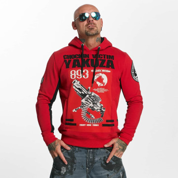 Yakuza Sweat capuche Chockin Victim rouge