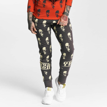 Yakuza Sweat Pant Allover Skull gray