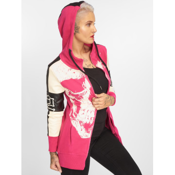 Yakuza Sweatvest Skull Mixed Long pink